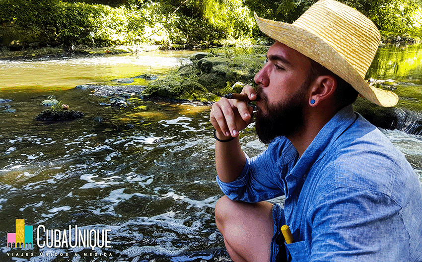 Fumador en la naturaleza